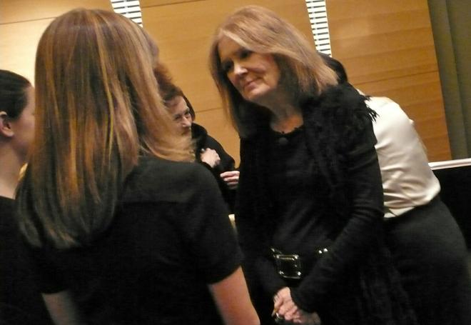 Gloria Steinem, feminist writer, social activist, and founder of Ms. magazine
