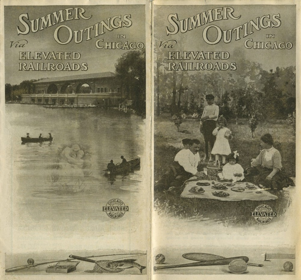 A 1915 Elevated travel brochure