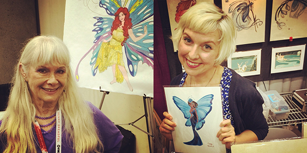 Barbara Marker and Casey Robin's booths suggest purple-blue butterflies beat out out rainbows and unicorns in 2015.