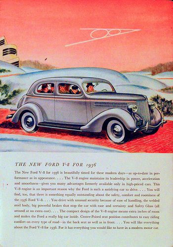 Ford v8 ad in 1936