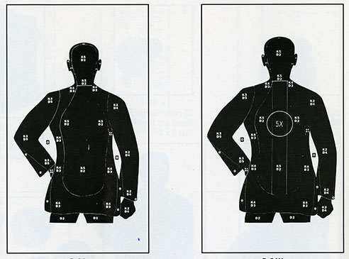 paper and board targets for pistol training
