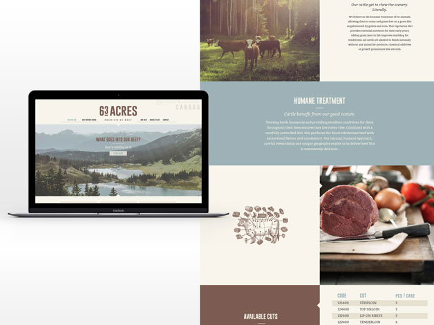 website for 63 acres by katie legge