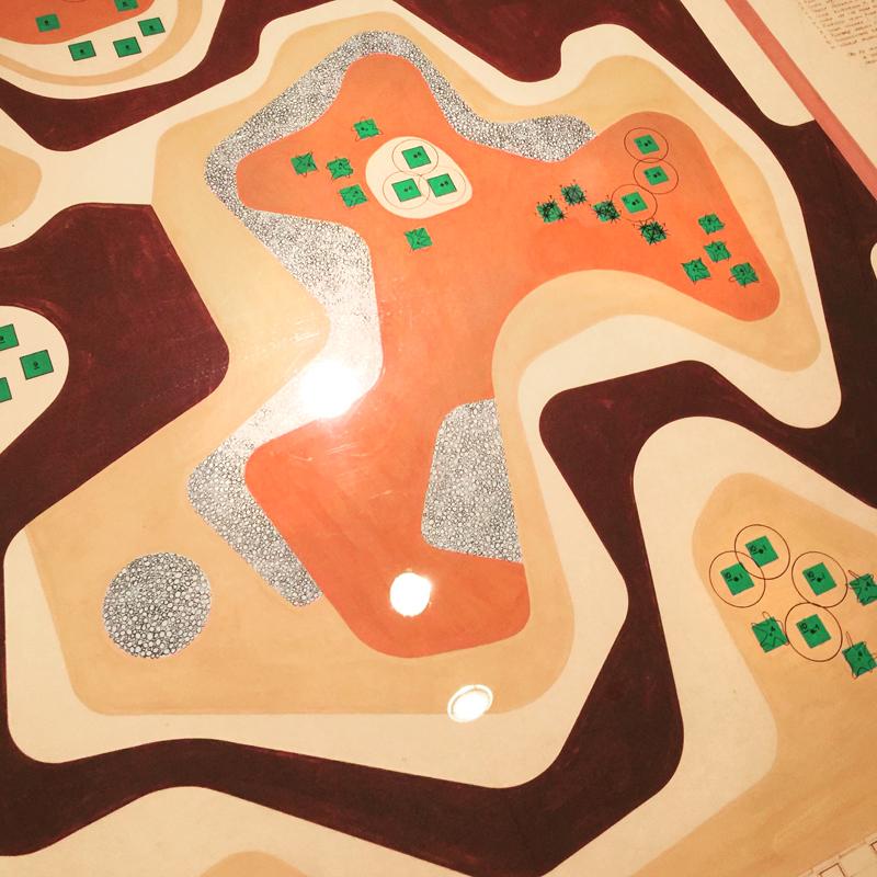 Detail of design for the roof garden, Banco Safra
