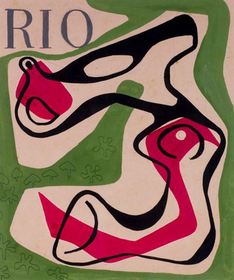 Cover design of the magazine 'Rio,'