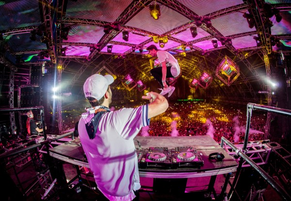 The Chainsmokers perform in the Sahara tent at Coachella, in Indio, CA, USA, on 24 April, 2016. | Copyright Goldenvoice