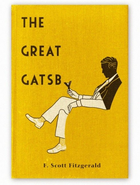 The Great Gatsby's sunburnt yellow book cover
