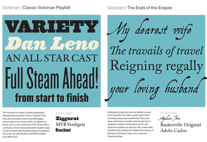 Victorian Font Pairings