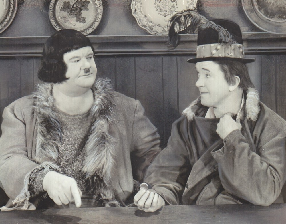 """Stan Laurel and Oliver Hardy in """"The Bohemian Girl."""""""