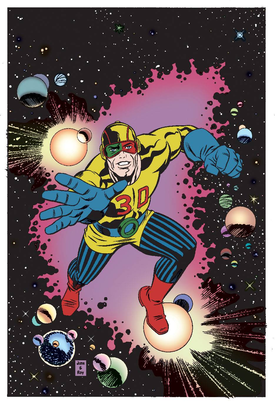 Kirby's 1950s character Captain 3D by June Brigman