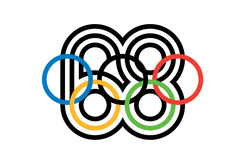 Lance Wyman's iconic identity for the 1968 Mexico Olympics