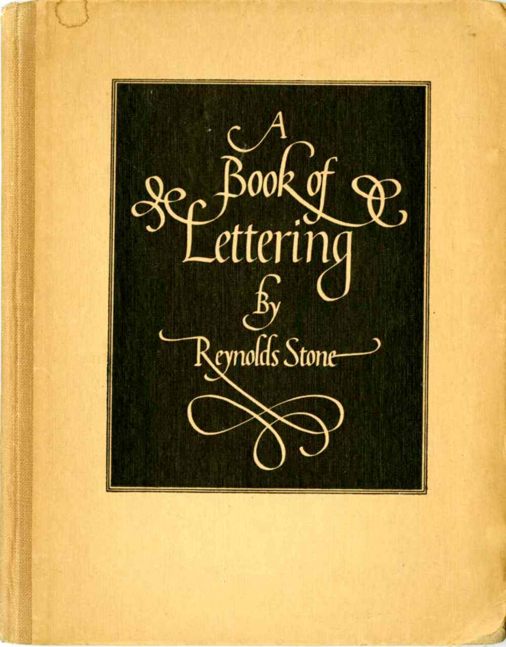 A book of lettering