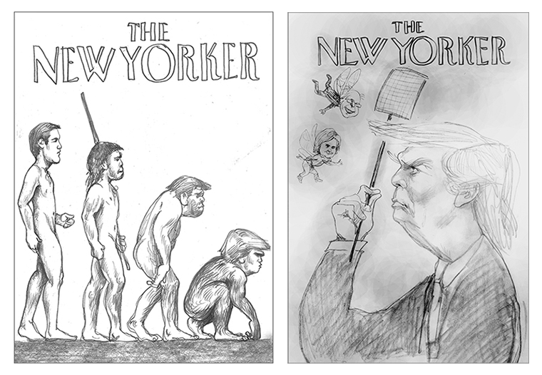 Two New Yorker cover ideas
