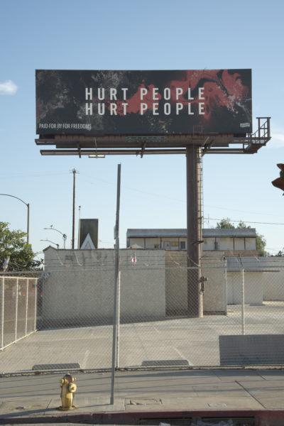 Artist Paula Crown's work in Los Angeles, California. Courtesy Cultural