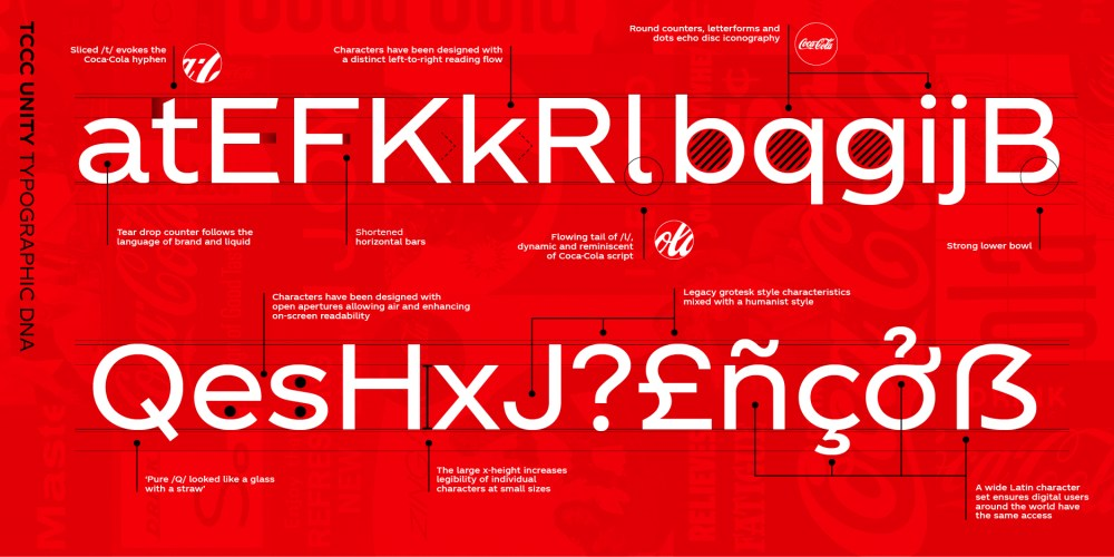 Coca Cola font designed by Neville Brody
