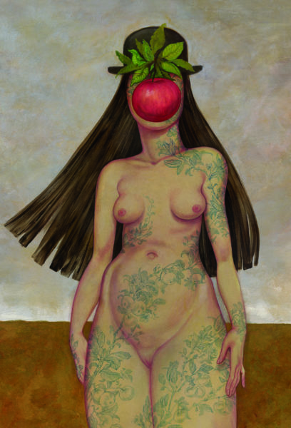 Anita Kunz's latest work focuses on recontextualing paintings by adding women.