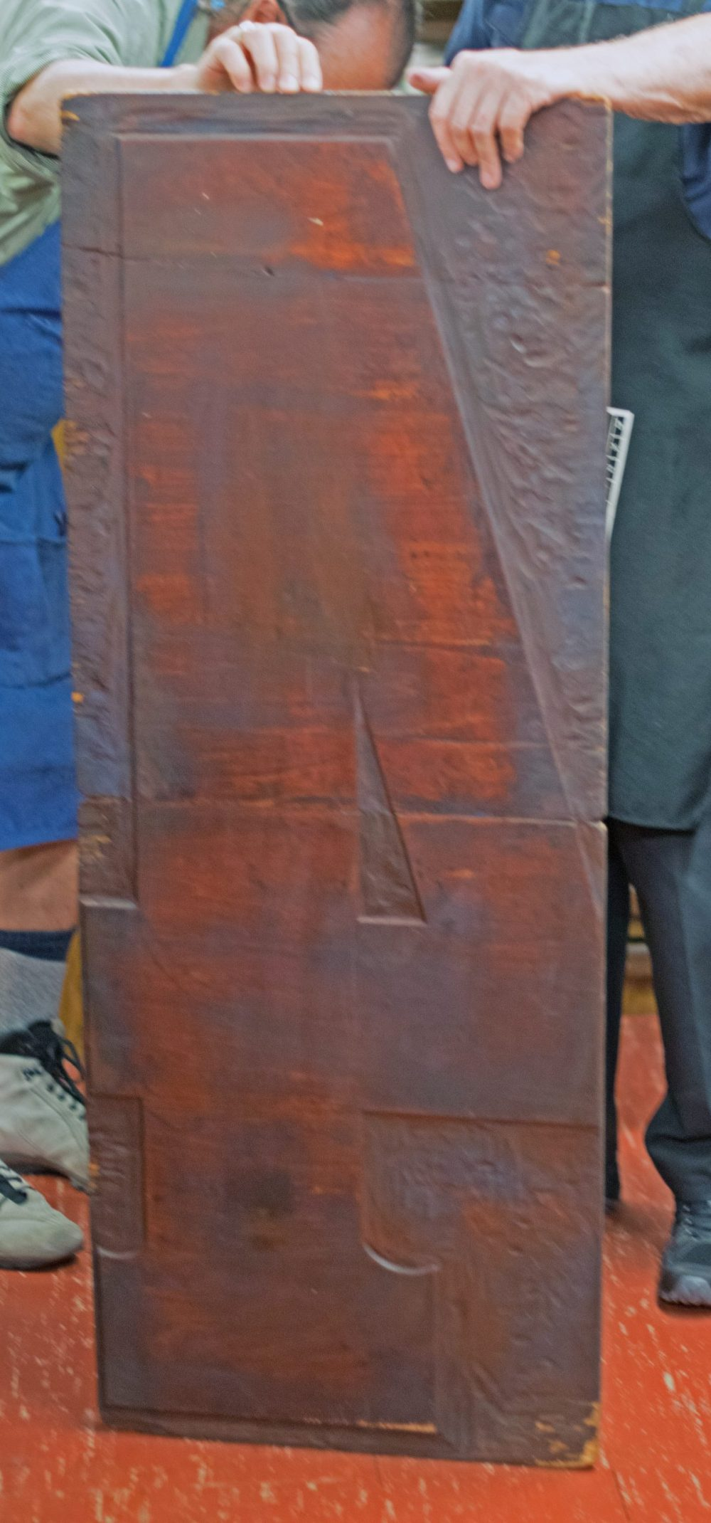 Example of carved wood block type.