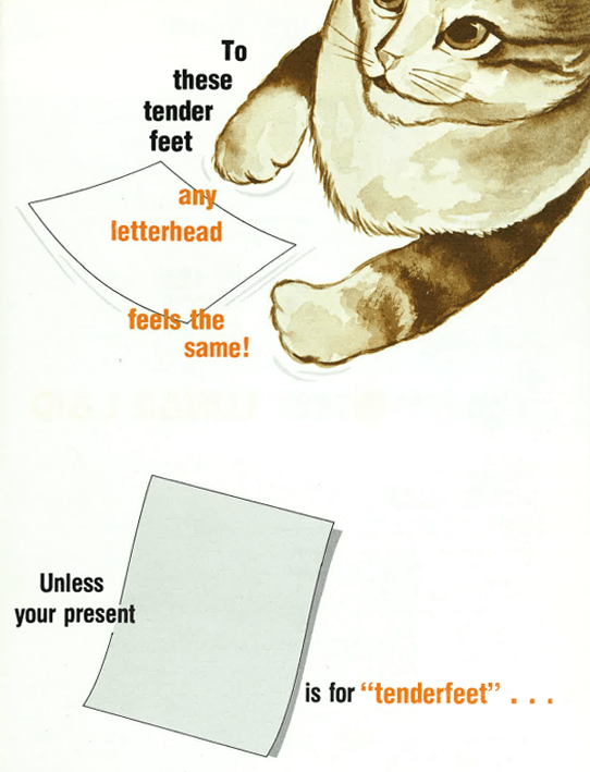 to these tender feet any letterhead feels the same!