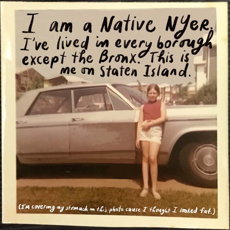 Photograph of me on Staten Island, 1970
