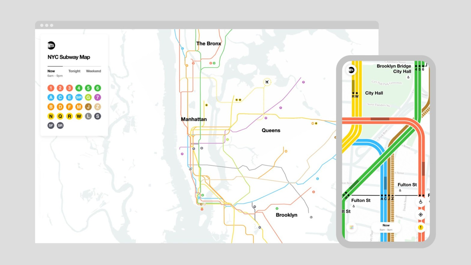 Thumbnail for New York's MTA Map Gets a New Look—and Goes Digital