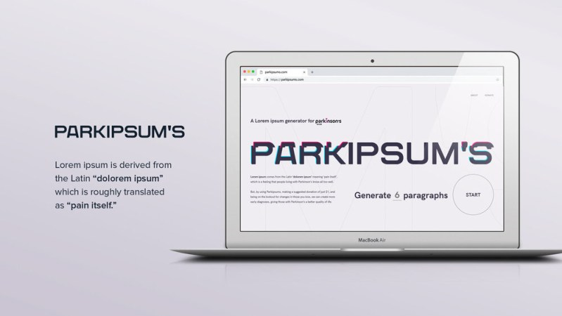 Thumbnail for Parkipsum's Is More Than Just A Placeholder. It's A Lifesaver.