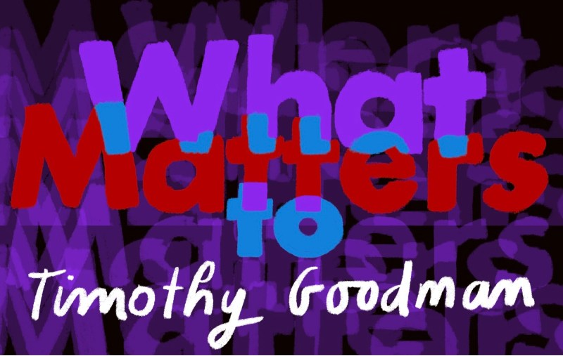 Thumbnail for What Matters: Timothy Goodman on Not Living a Life of Could Haves and Should Haves