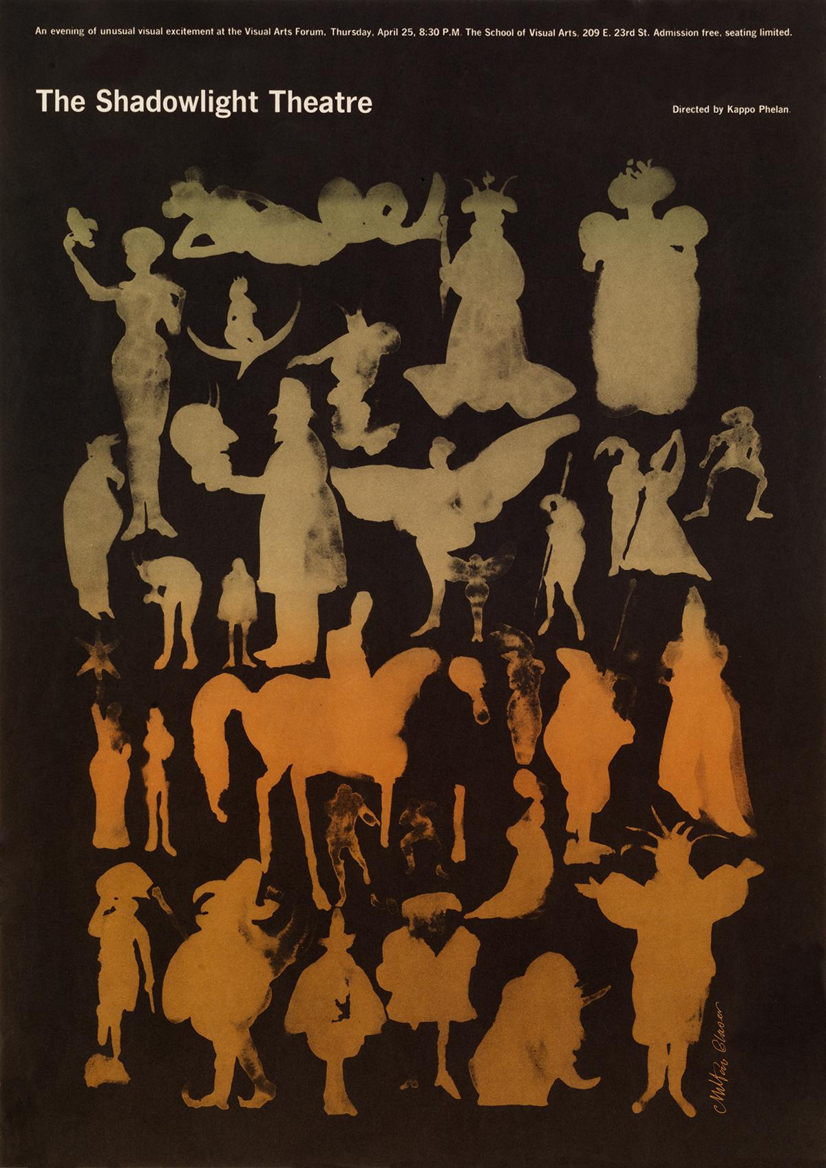 Thumbnail for The Glaser Nobody Knows: 2 Milton Posters For Kappo Phelan's Shadowlight Theatre