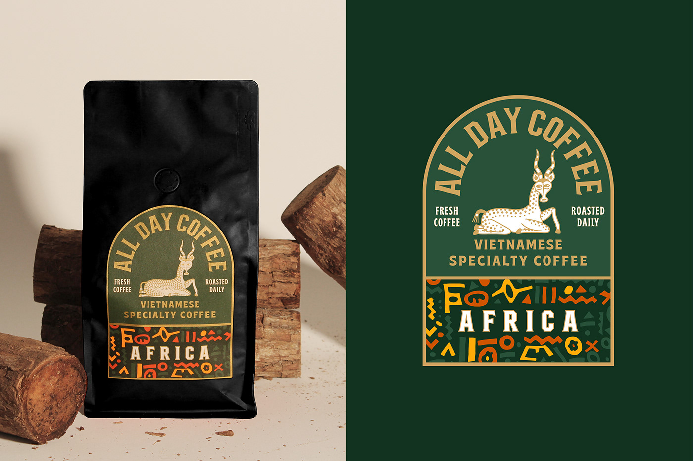 Thumbnail for Representing Geographical Regions With All Day Coffee's Packaging System
