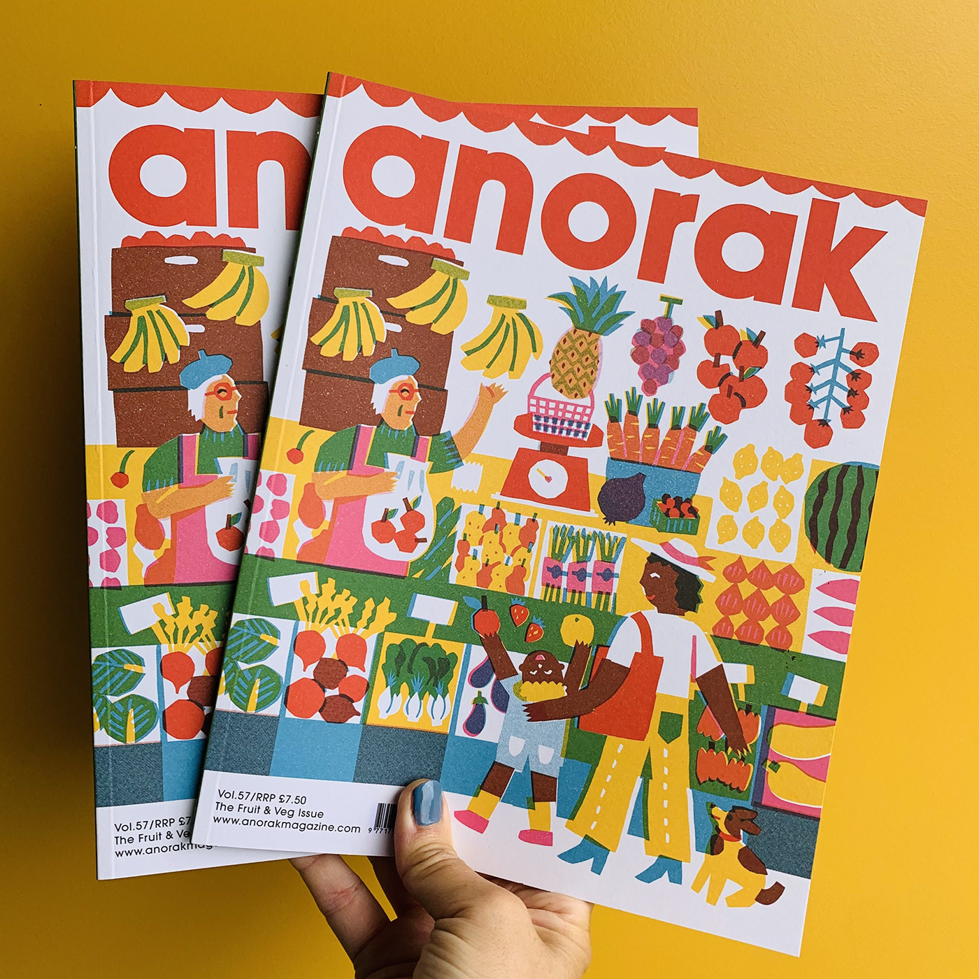 Thumbnail for Asahi Nagata's Anorak Magazine Cover Will Inspire You to Eat Your Fruits and Veggies