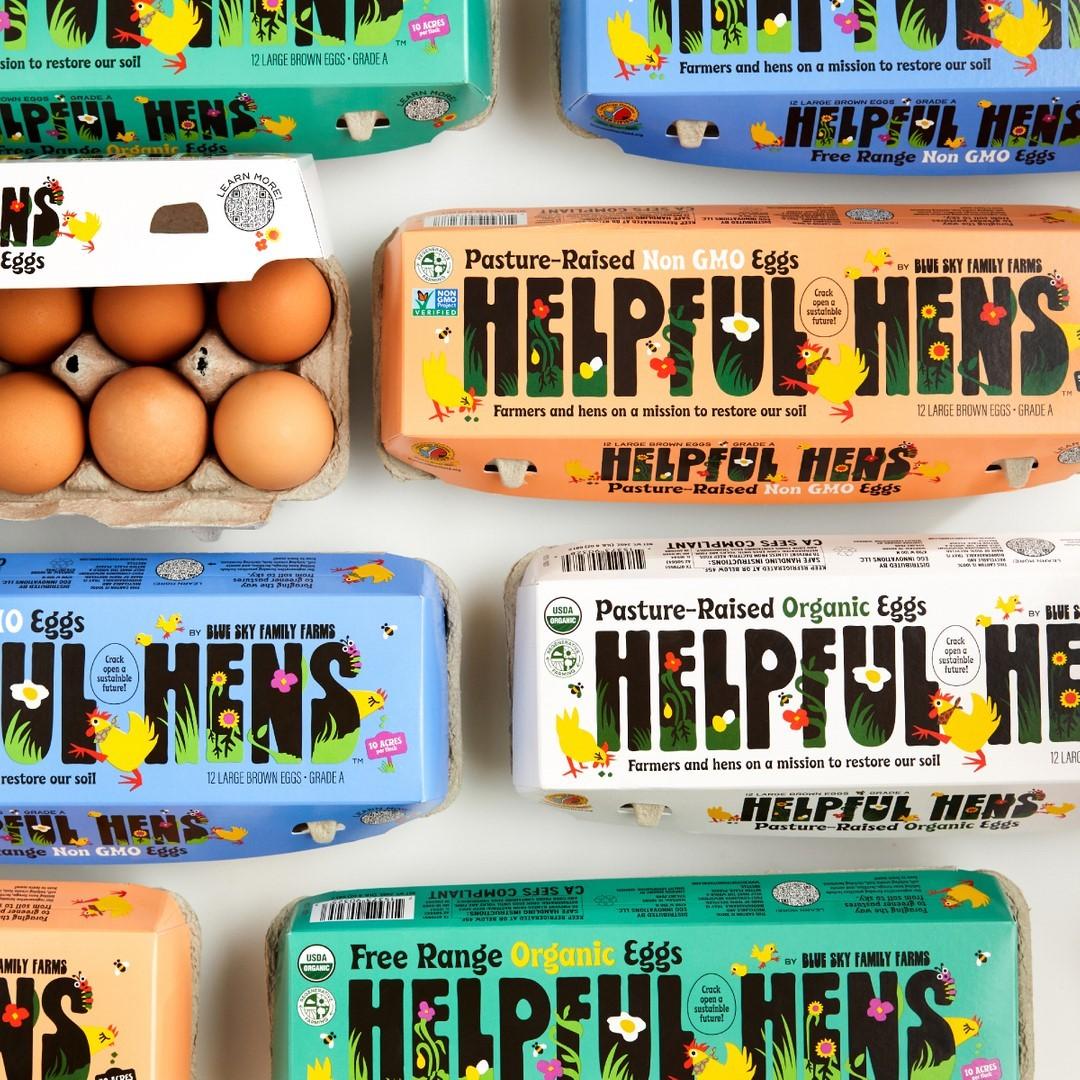 Thumbnail for Designsake Studio Dreams Up Whimsical Packaging for Helpful Hens