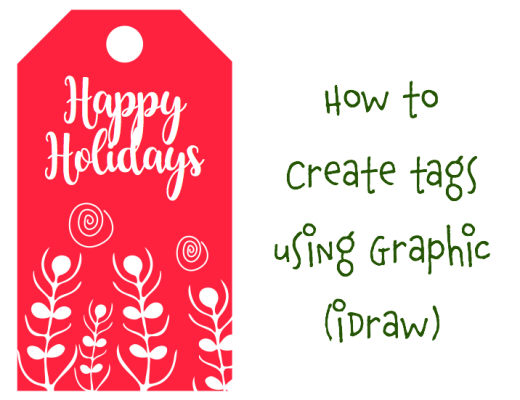 create gift tags using Graphic iDraw