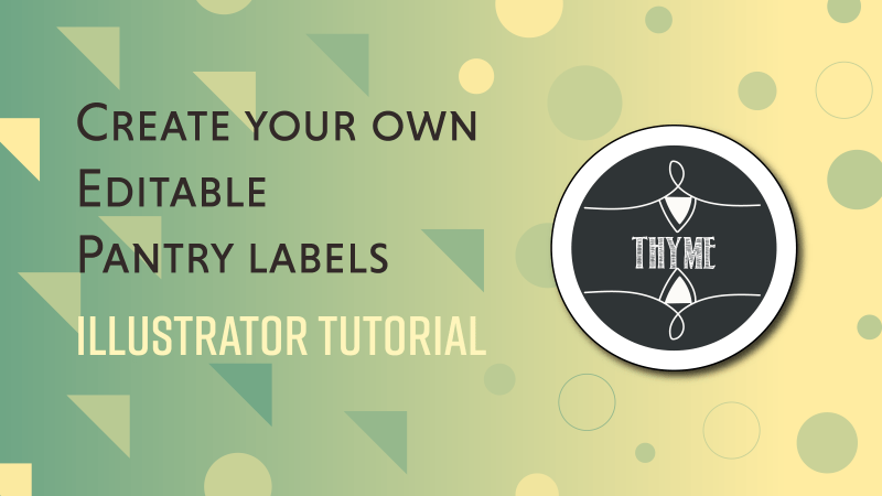 create editable pantry labels