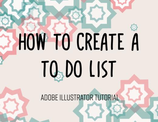 To do list in Adobe Illustrator