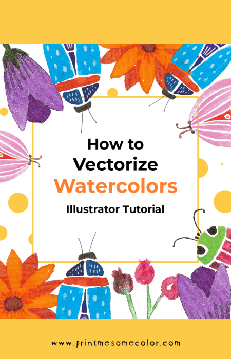 vectorize watercolor illustrator tutorial