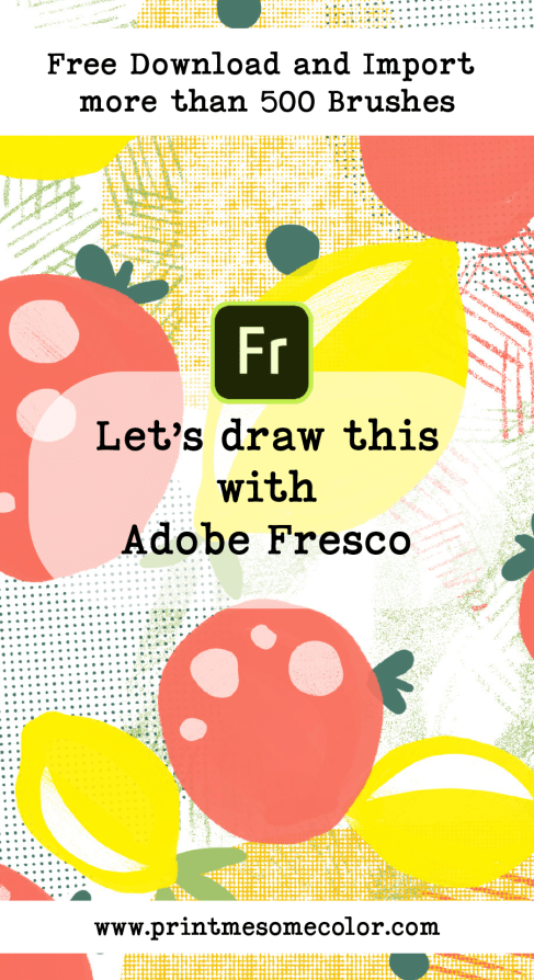 Adobe Fresco tutorial free brushes