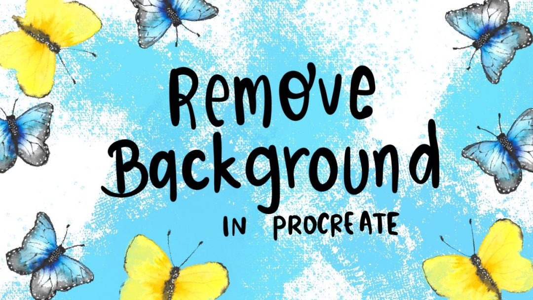 remove background using procreate