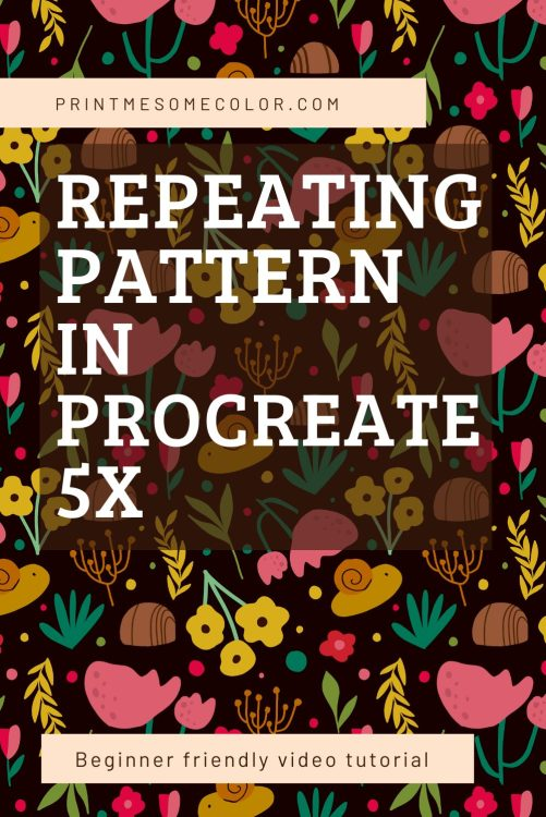 create a repeating pattern with procreate 5x