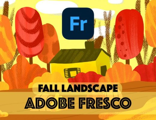 Fall Illustration in Adobe Fresco