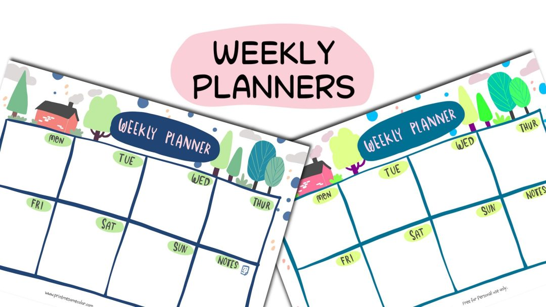 free download Weekly Planners