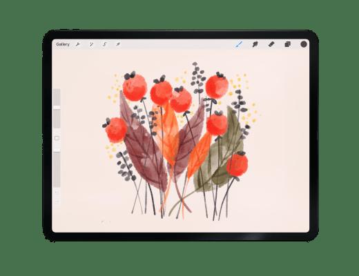 Procreate easy watercolor illustration