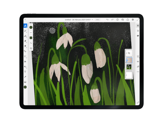 How to add texture in Adobe Fresco
