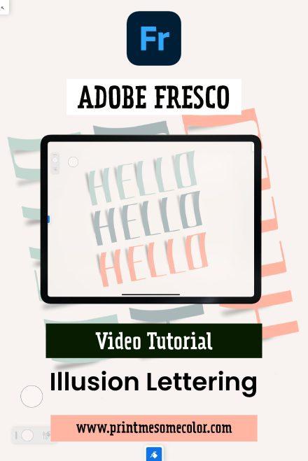 Illusion lettering