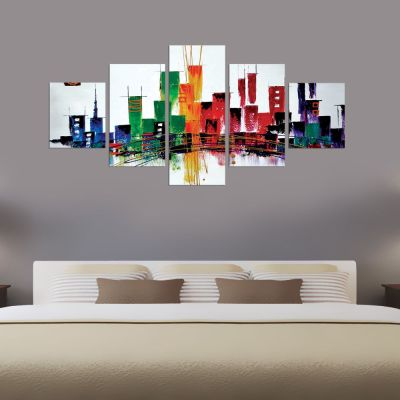 Abstract Buildings Canvas Wall Art