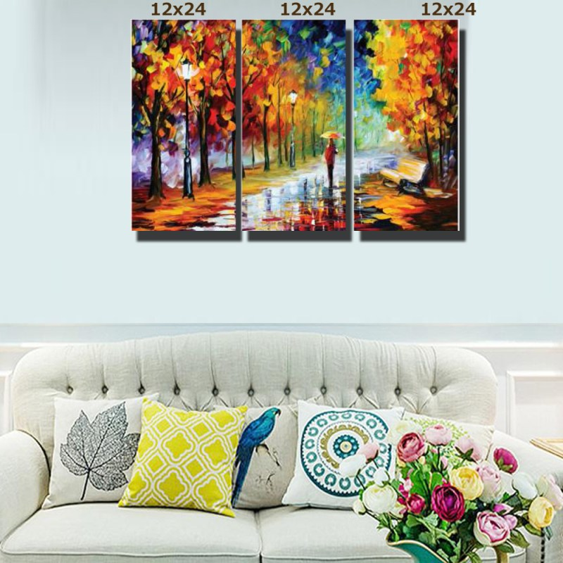 Person in Park Canvas Wall Art