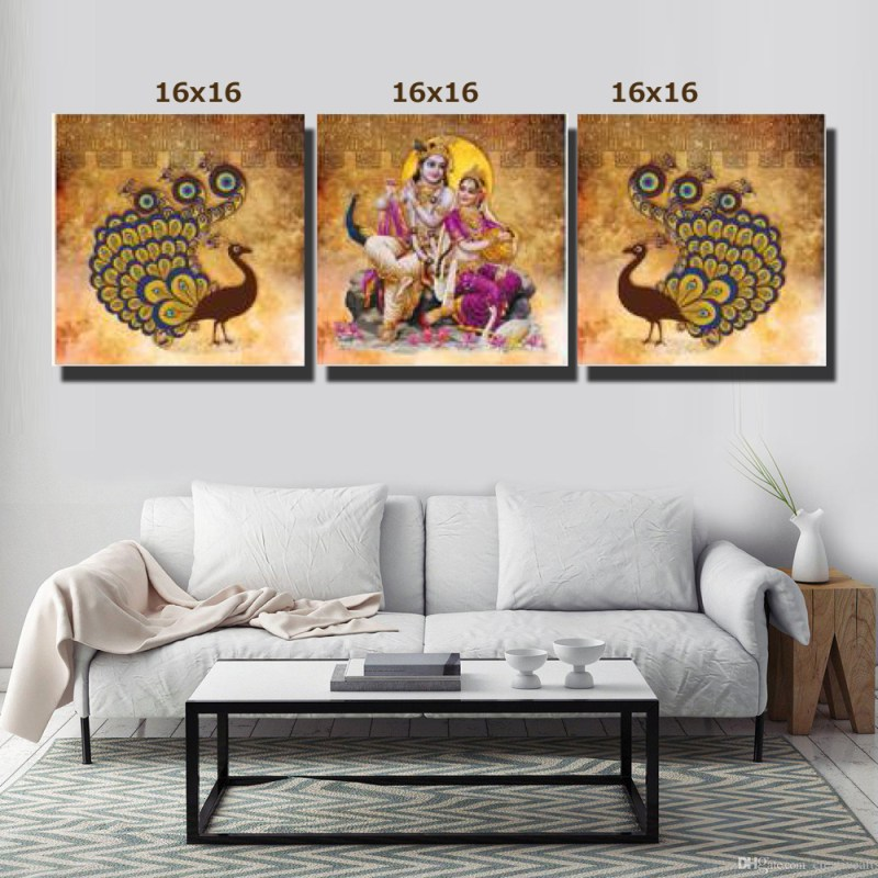 Radha Krishna in the Forest Canvas Wall Art