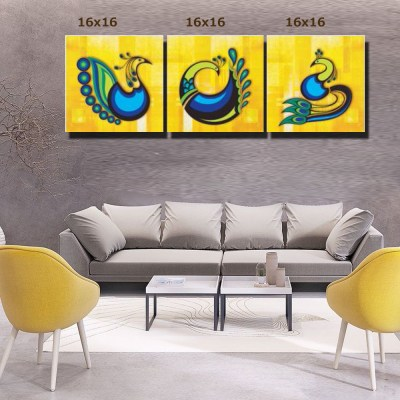 Peacock Design Canvas Wall Art