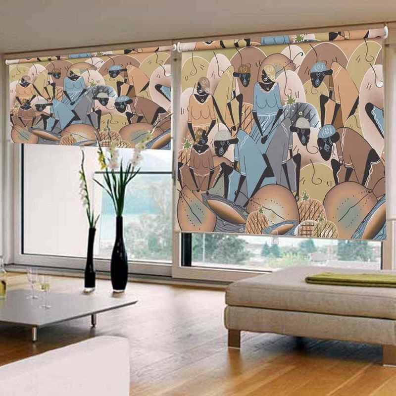 African Tribal Blinds