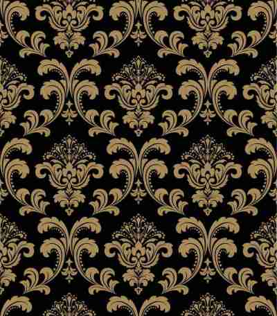Gold Damask Window Blinds
