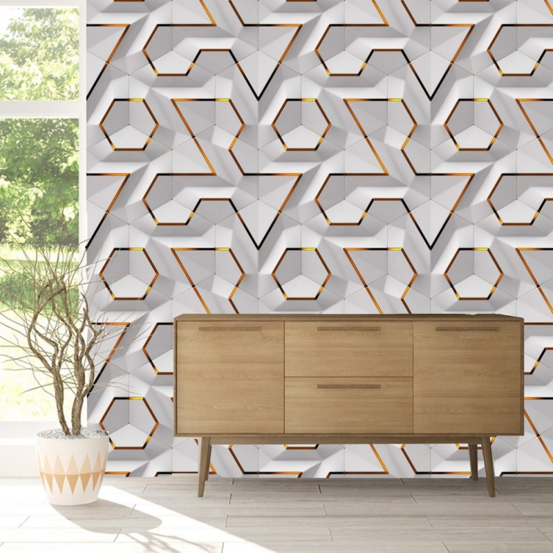 Geometric Wallpaper Removable Peel And Stick 1