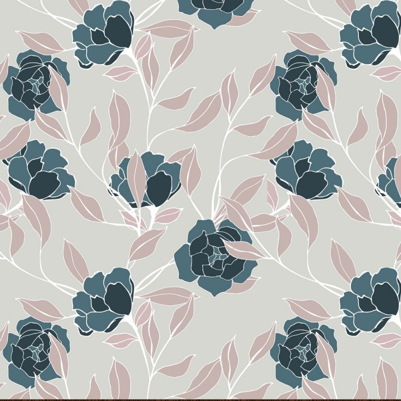 Jade Flowers Removable Wallpaper 3