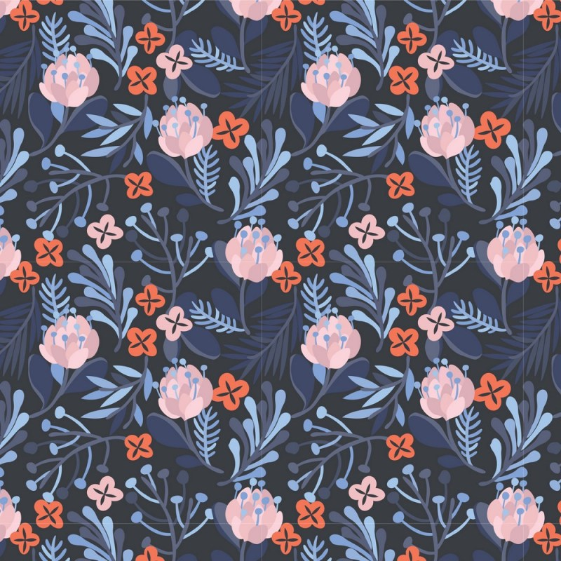 Buy Rosy Brown Floral Peel And Stick Wallpaper 3